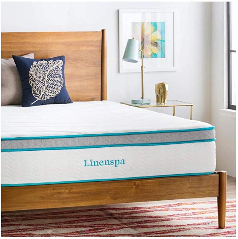 linenspa 12 inch hybrid mattress