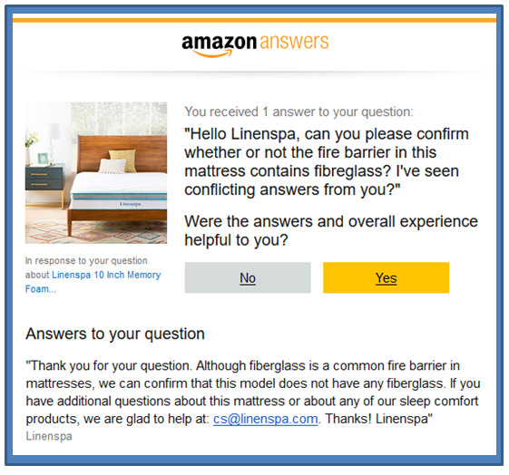 linenspa amazon answer