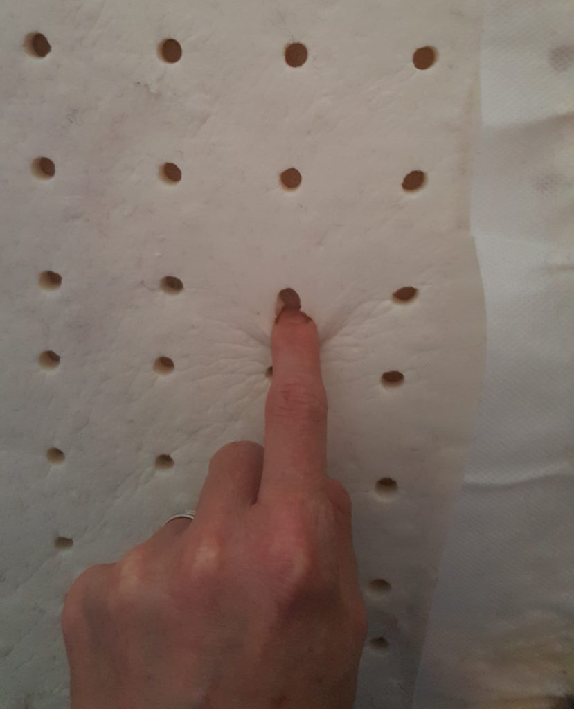 the latex inside our mattress