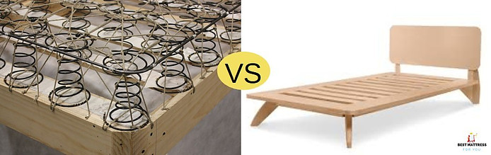 box spring vs platform