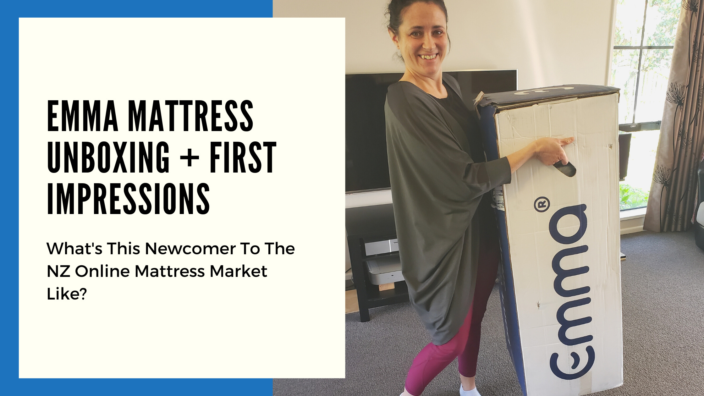 Emma Mattress Unboxing + First Impressions