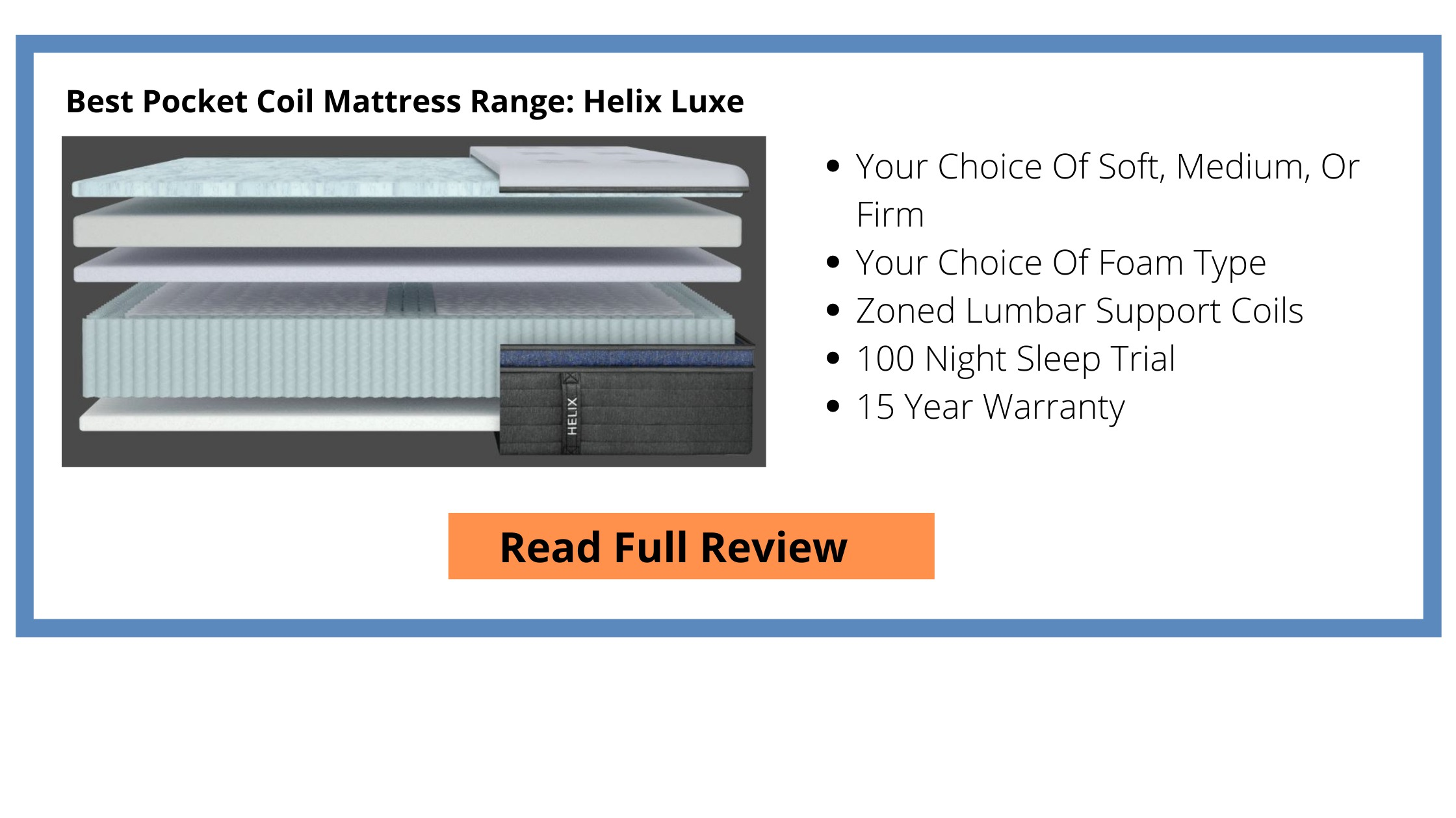 Helix Luxe Mattress Click Box