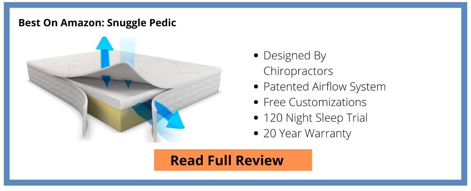 Snuggle Pedic Review Button