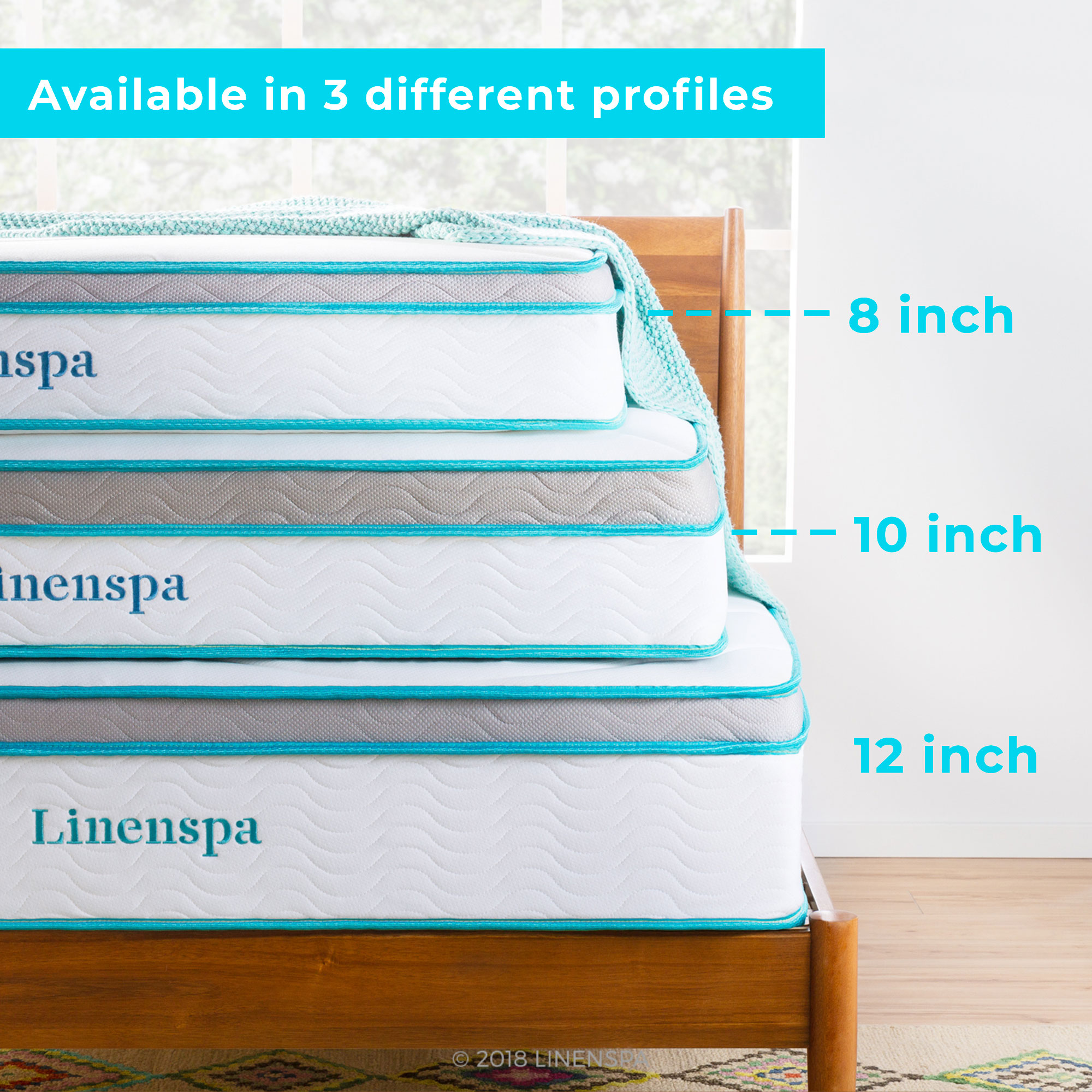 Linenspa Hybrid Mattress Height Profiles