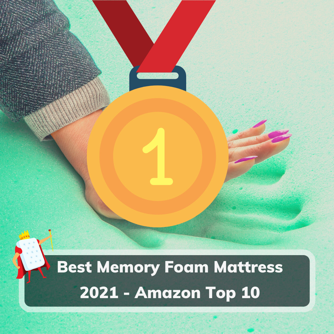 Best Memory Foam Mattress 2021 - Amazon Top 10 - Feature Image