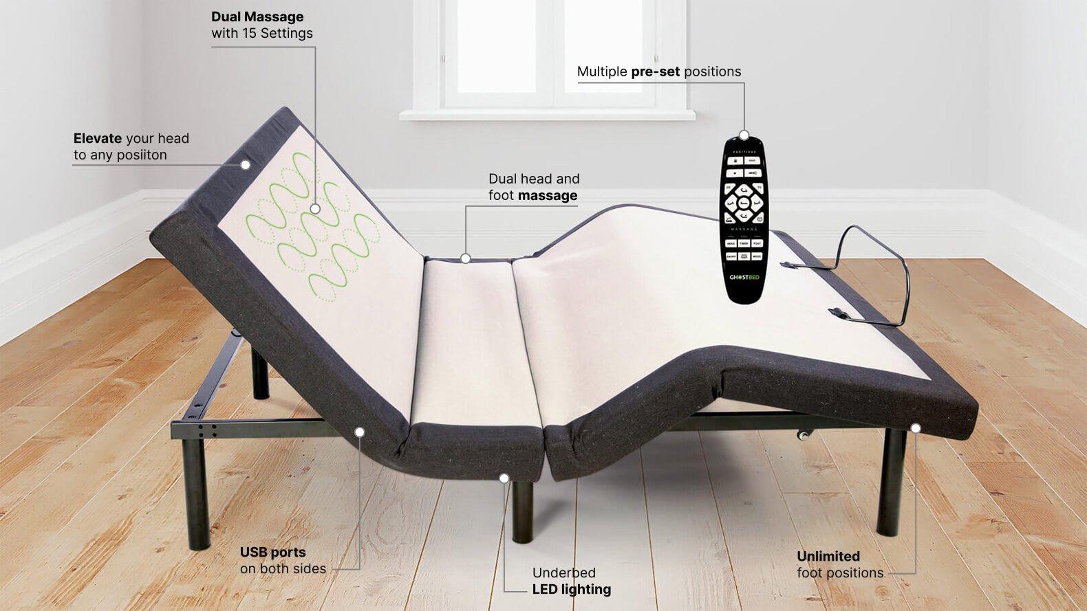 Best Adjustable Bed Canada - GhostBed Base